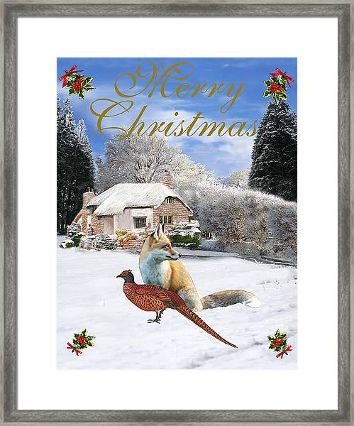Framed Print featuring the mixed media Winter Garden Christmas by Eric Kempson