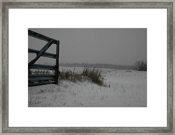 Framed Print featuring the photograph Winter Gate by Dylan Punke