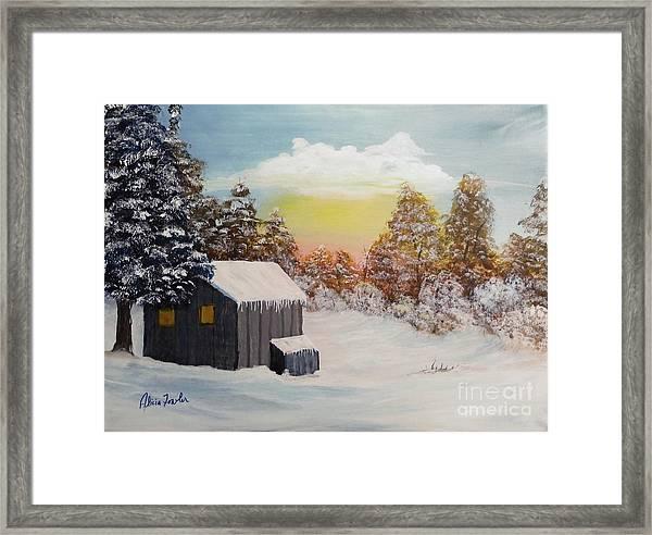 Winter Getaway Framed Print