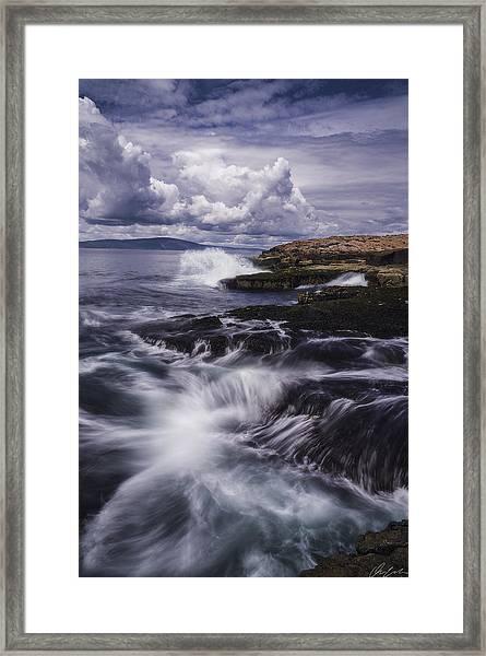 Winter Harbor At Acadia National Park Framed Print