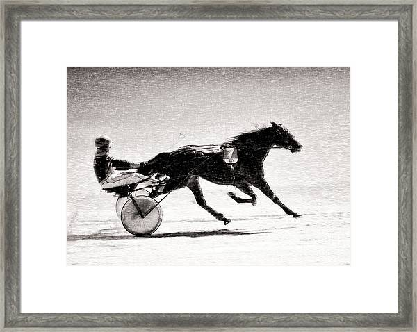 Winter Harness Racing Framed Print