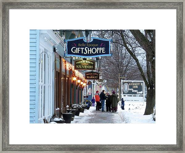 Winter In Cape Vincent Framed Print