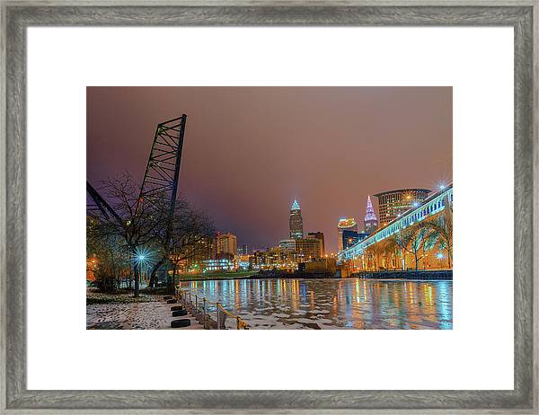 Winter In Cleveland, Ohio  Framed Print