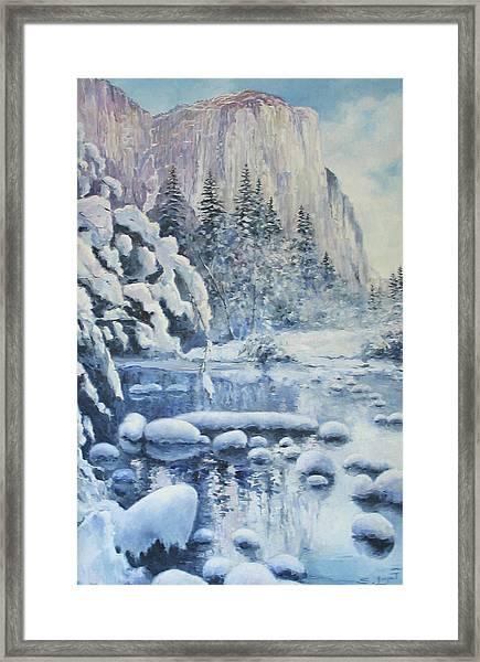 Winter In El Capitan Framed Print