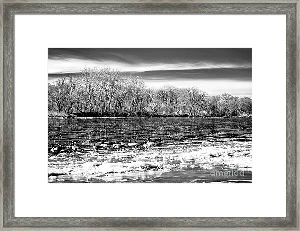 Winter In The Delaware Valley Framed Print by John Rizzuto