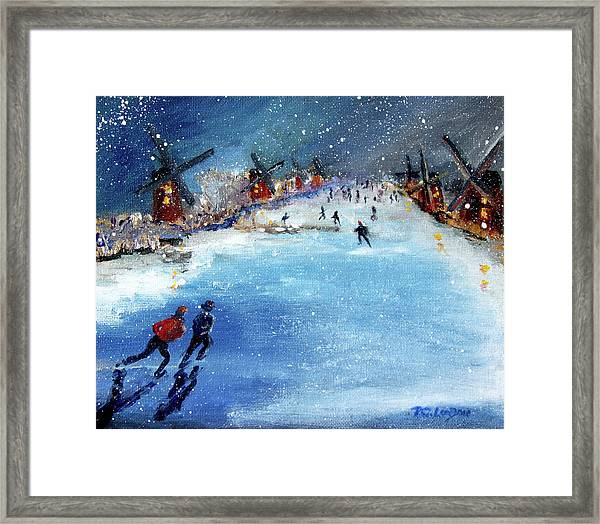 Winter In The Netherlands Framed Print