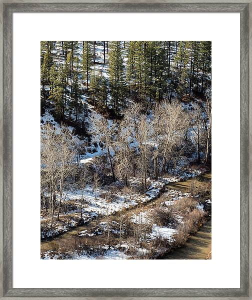 Winter In The Susan River Canyon Framed Print by The Couso Collection