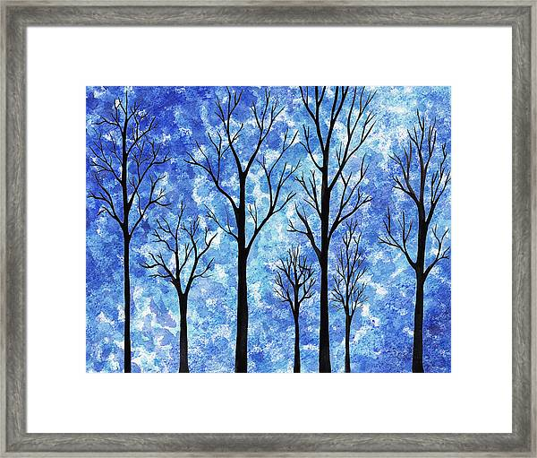 Winter In The Woods Abstract Framed Print