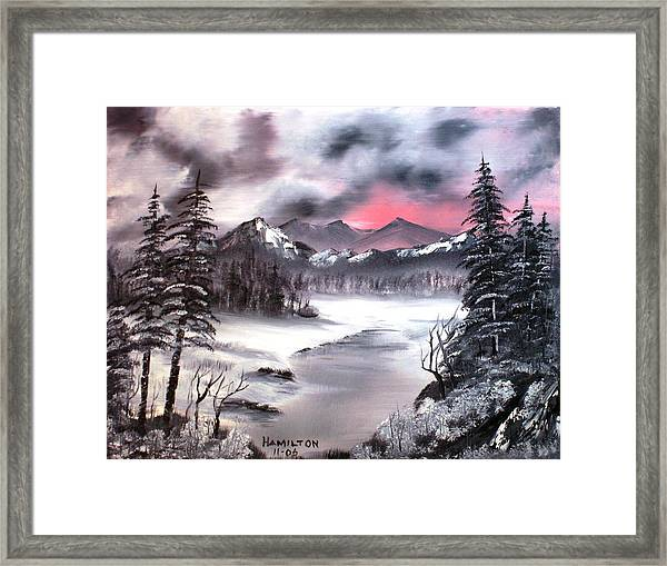Winter In Three Colors Framed Print