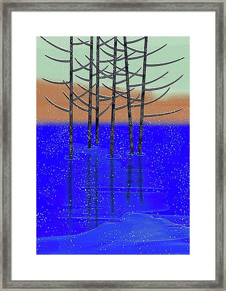 Winter Lake Framed Print