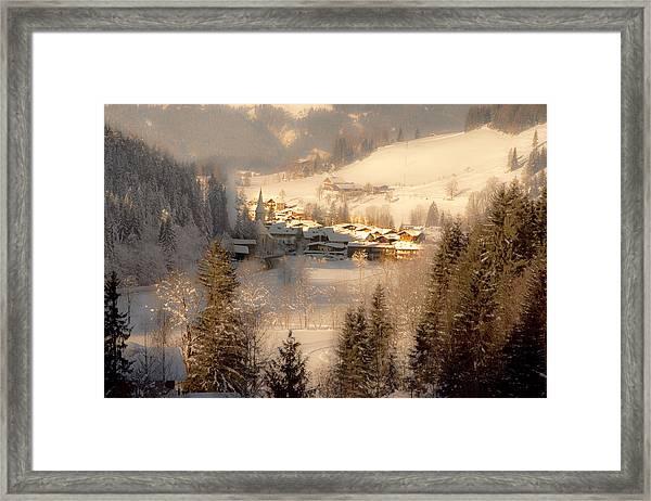 Winter Landscape Salzburger Land Framed Print