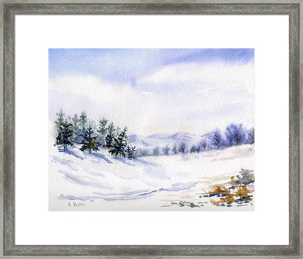 Winter Landscape Snow Scene Framed Print