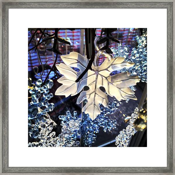 Winter Leaf Framed Print
