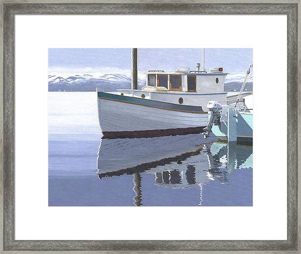 Winter Moorage Framed Print