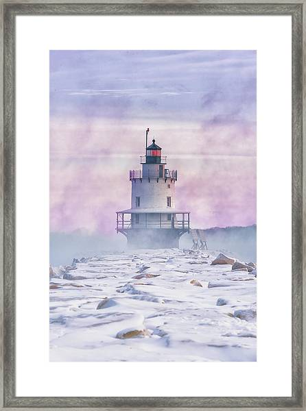 Winter Morning At Spring Point Ledge Framed Print