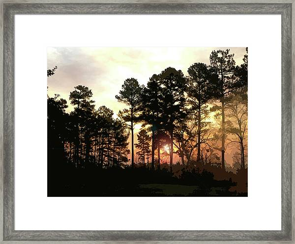 Framed Print featuring the digital art Winter Morning by Gina Harrison