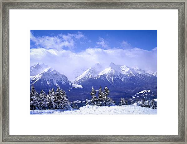 Winter Mountains Framed Print