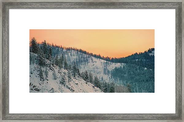 Winter Mountainscape  Framed Print