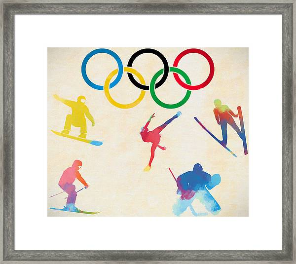 Winter Olympics Games Framed Print