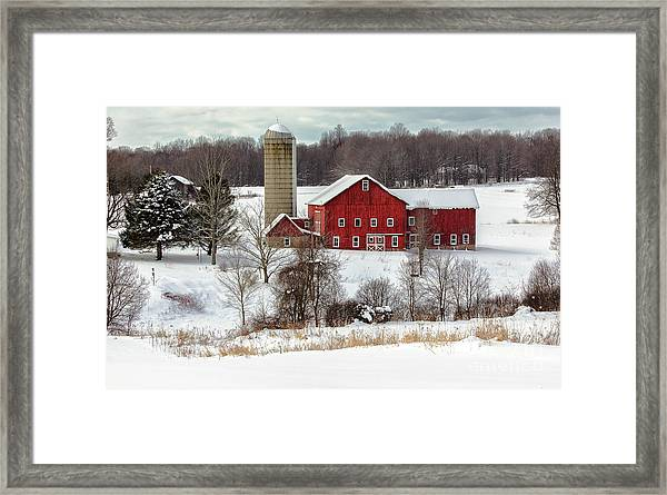 Winter On A Farm Framed Print