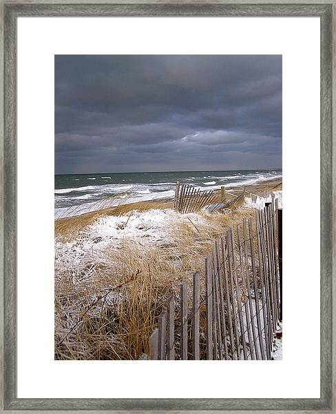 Winter On Cape Cod Sandy Neck Beach Framed Print