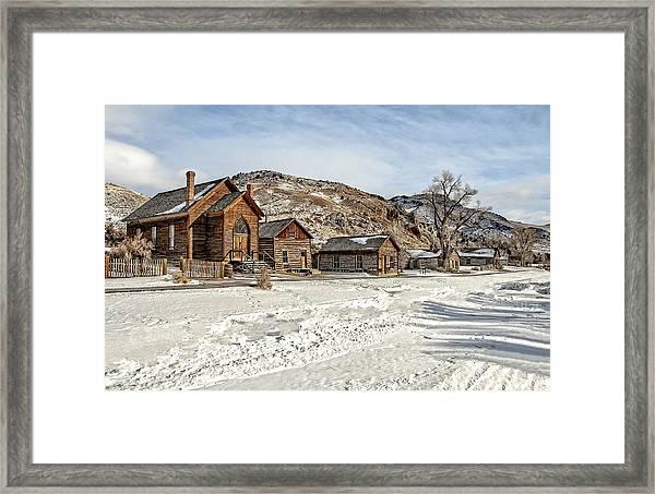 Winter On Main Street Framed Print