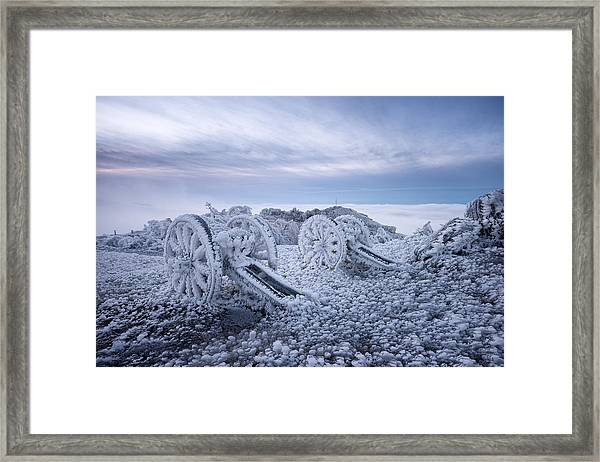 Winter On Shipka Peak Framed Print by Milen Dobrev