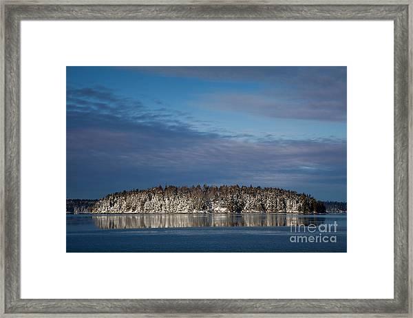 Winter On Taunton Bay Framed Print