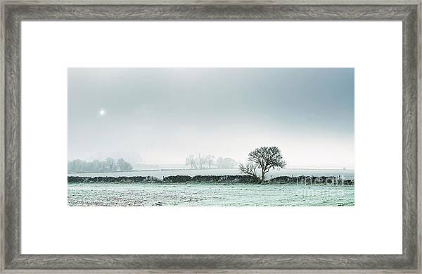 Winter On The Mendips Framed Print