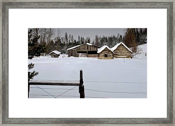 Winter On The Ranch Framed Print