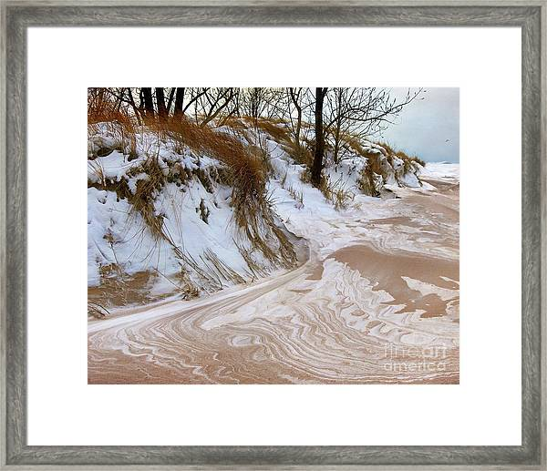 Winter Paints Framed Print