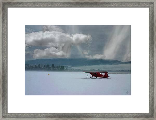 Winter Plane Framed Print