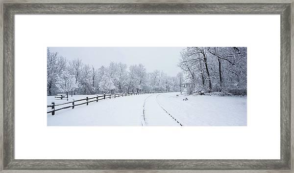 Winter Rail Galena Illinois Framed Print