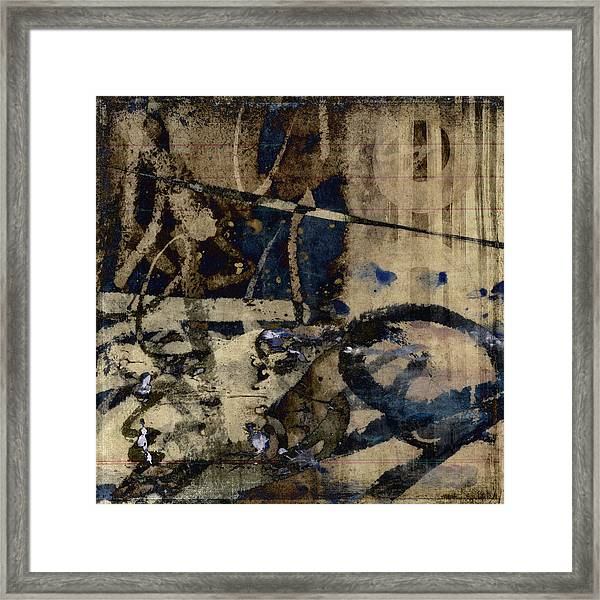 Winter Rains Series One Of Six Framed Print
