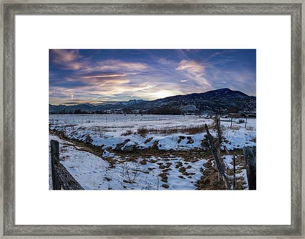 Sunset Range Framed Print