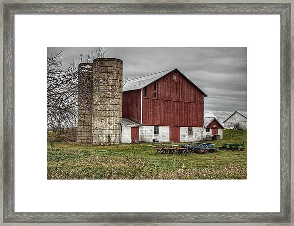 0006 - Winter Red Framed Print