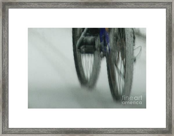 Winter Ride Framed Print