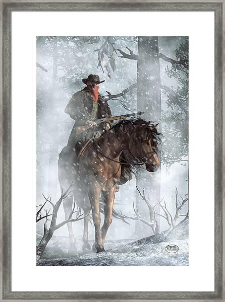 Winter Rider Framed Print