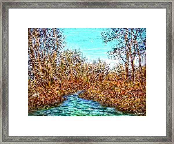 Winter River Breeze Framed Print