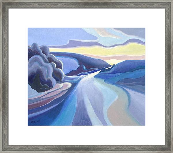 Winter Road Framed Print