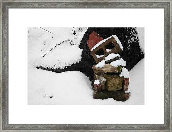 Framed Print featuring the photograph Winter Sculpture by Dylan Punke