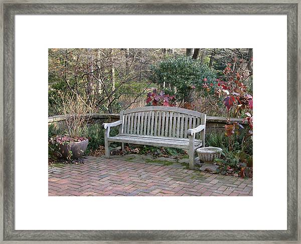 Winter Seating Framed Print