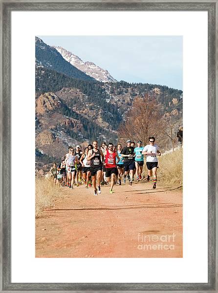 Winter Series II Peakrunners Framed Print