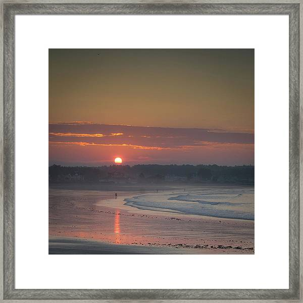 Winter Sunrise - Kennebunk Framed Print
