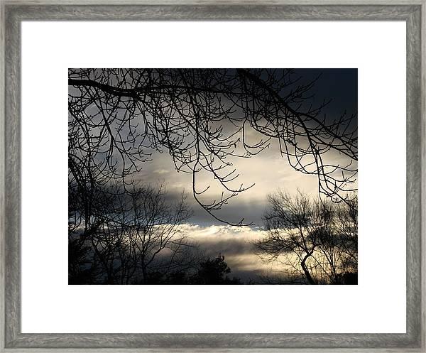 Winter Sunrise Framed Print by Liz Vernand