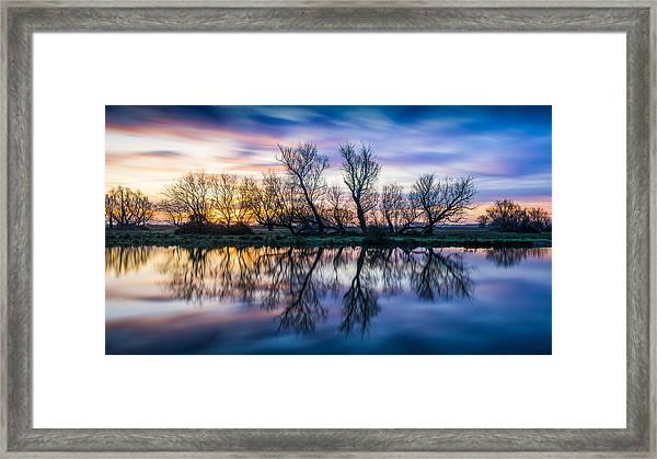 Winter Sunrise Over The Ouse Framed Print