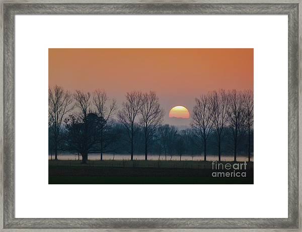 Winter Sunset 1 Framed Print