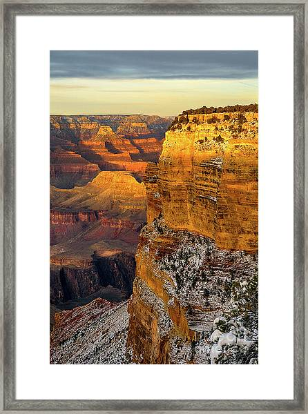 Winter Sunset At The Grand Canyon Framed Print