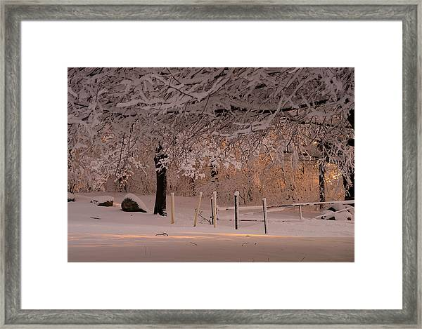 Winter Sunset Ft Hill Park Framed Print