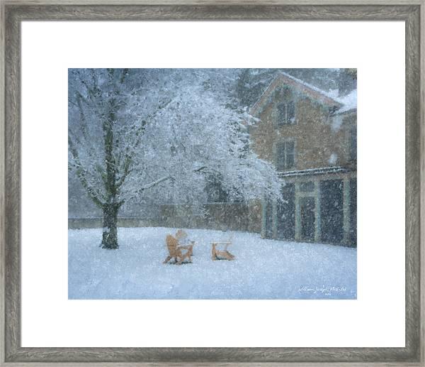 Winter Tea At Queset House Framed Print